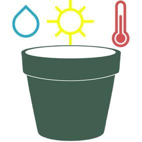 Pflanzentopf Wasser Sonne Temperatur
